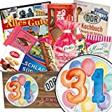 31. Geburtstag Geschenk - Süße DDR Waren mit Geschenkbox | Geschenk Set