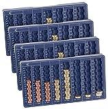 PEARL Zählbrett Münzen: 4er-Set Euro-Münzbretter für alle Euro- und Cent-Münzen (Münz Sortierer)