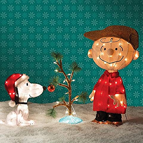 Charlie Brown, Snoopy & The Lonely Tree Christmas Decor by Improvements (Snoopy Charlie Brown Christmas)