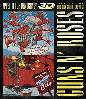 Appetite for Democracy: Live Hard Rock Las Vegas [Blu-ray 3D] by Guns N Roses (B00K6D1HSK) | Amazon price tracker / tracking, Amazon price history charts, Amazon price watches, Amazon price drop alerts