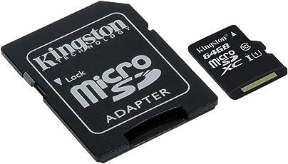 Kingston SDCS/64GB Canvas Select Scheda MicroSD con Adattatore SD
