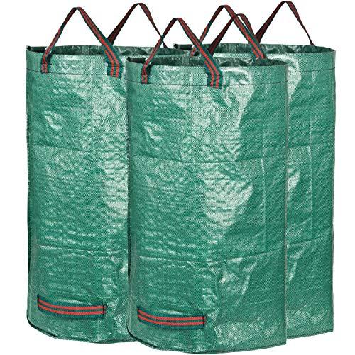 *GardenMate Gartensack aus robustem Polypropylen-Gewebe (PP) 150gsm, 120l, 3 Stück*