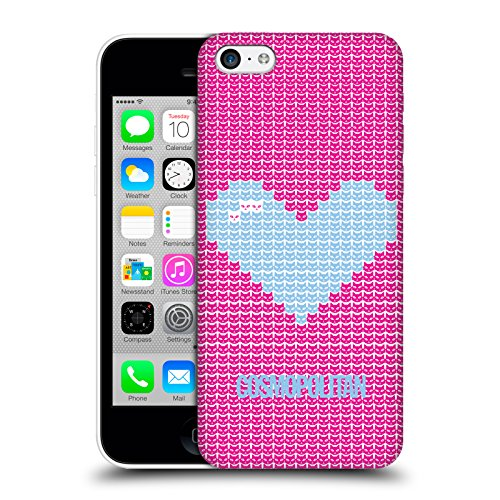 Official Cosmopolitan Pink On Sky Blue Pixel Heart Lovey Hard Back Case for Apple iPhone X Sky Blue On Pink