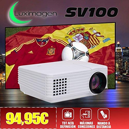 Proyector con TDT Luximagen SV100 Blanco con TDT HD, USB, HDMI, VGA,...