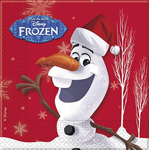 Disney Frozen Olaf Weihnachts-Papierservietten (Party Frozen Olaf Supplies)