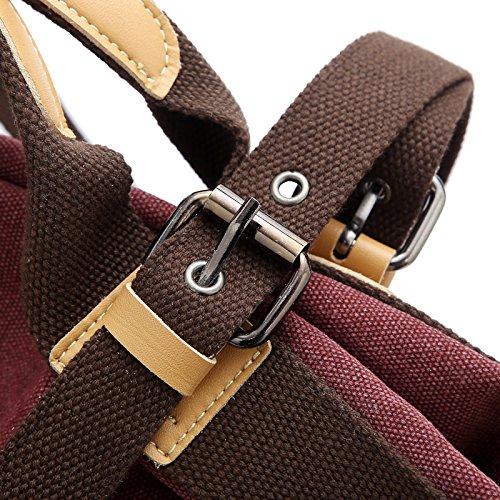 Borse Spalla Donna - Landove Borsette in Tela Borsa a Tracolla Grande Tote Bag Stoffa per Viaggio / Spiaggia / Scuola / Sportiva viola