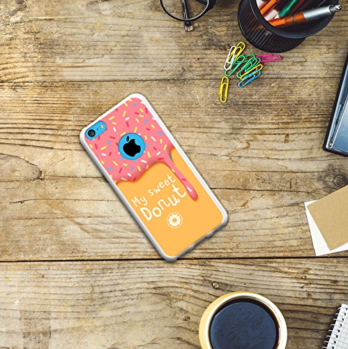 iPhone 5C Hülle, WoowCase Handyhülle Silikon für [ iPhone 5C ] Mondrian Stil Rechtecke Handytasche Handy Cover Case Schutzhülle Flexible TPU - Rosa Housse Gel iPhone 5C Transparent D0564