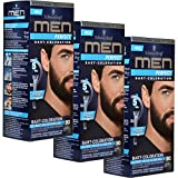 3 x Schwarzkopf Men Perfect Coloration à barbe 90 Noir