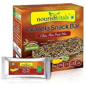 NourishVitals Date and Cinnamon Granola Snack Bar, 250g
