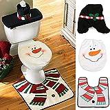 Decorazione natalizia Babbo Natale Toilet coprisedile & tappeto & Tissue Box Cover Set regalo