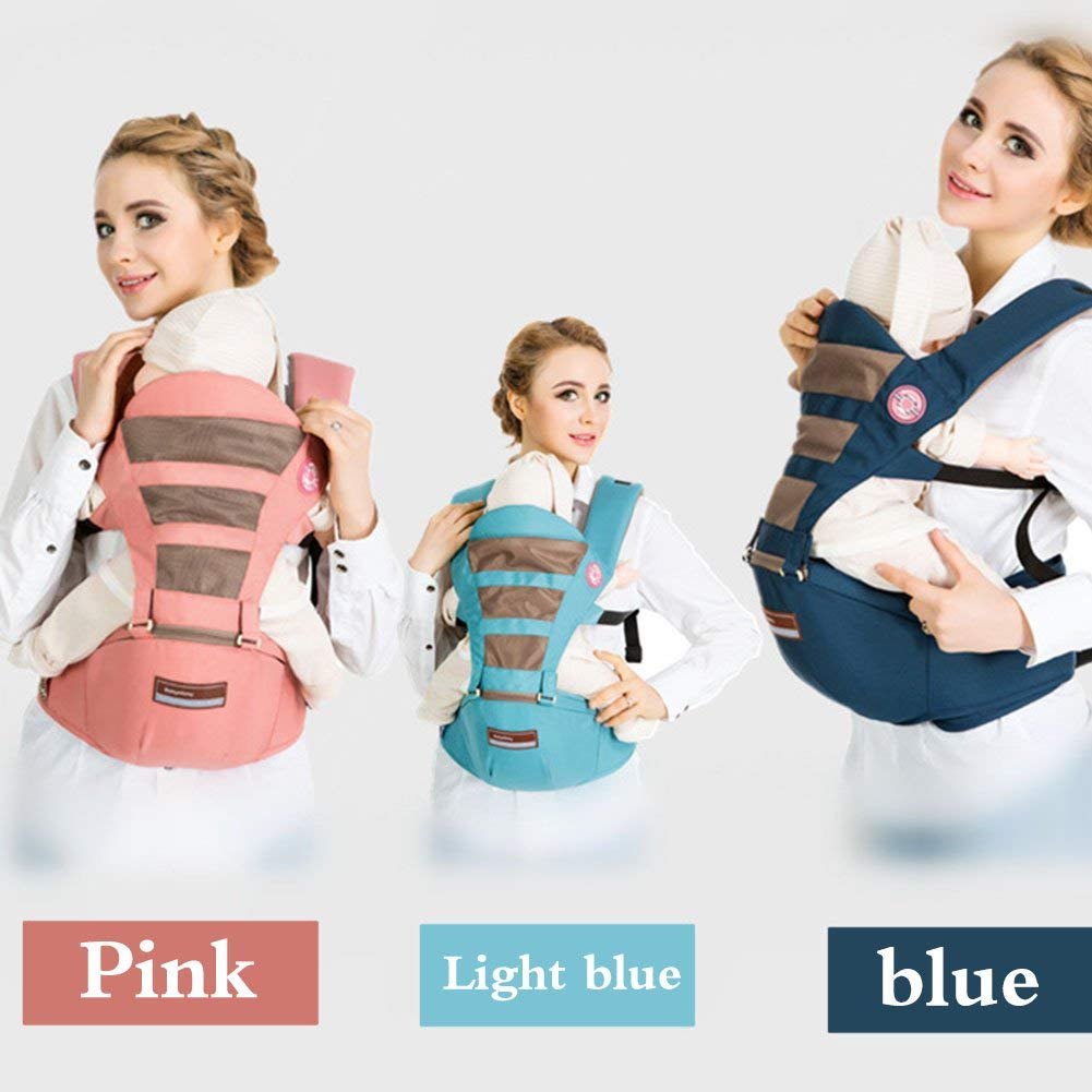 Udxvsdfhd Baby Carrier Baby Carrier Multifunctional Summer Breathable Baby Seat Safety And Comfortable Seat Pink Back Carrier Prams Pushchairs