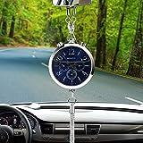 Itimo orologio decorazione con profumo deodorante per auto, stoccaggio auto specchietto retrovisore ornamento appeso ciondolo interno di (argento)