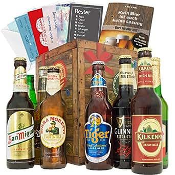 Geschenke für Männer BIERSORTEN AUS ALLER WELT Geschenkbox + gratis Bierbuch + Geschenkkarten + Bierbewertungsbogen. Bier Geschenke aus Kanada + Portugal + Russland + Tyskie + Singha + Birra Moretti +  Bier Geschenke für Männer. Besser als Bier selber machen oder selbst brauen: Geschenk Geburtstagsgeschenke was schenken geschenke zum 50. geburtstag valentinstag geschenke für freund geschenk für ihn geschenke Geschenkideen Weihnachten biergeschenke