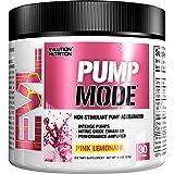 Evlution Nutrition PUMP MODE | Suplemento En Polvo De Oxido Nitrico Booster Vascular Para Un Bombeo Intenso Y Extra Rendimiento | Contiene 30 Dosificaciones | Sabor Limonada Rosa