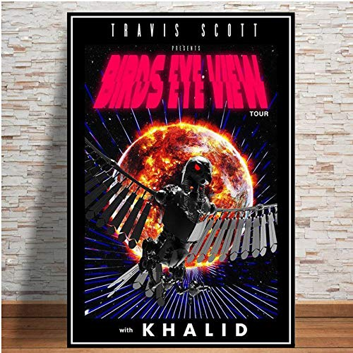 yhyxll Stampe Poster Travis Scott Look Mom I Can Fly Movie 2019 Serie TV Show Pittura Arte Immagini murali per Soggiorno Decorazioni per la casa T 50X75 CM