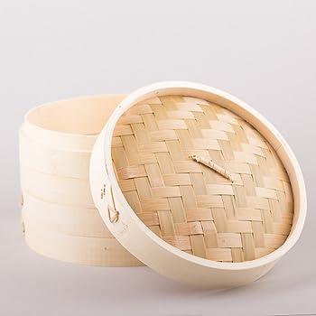 Swift Spice Bambus-Dampfkorb mit 2 Ebenen, inkl. Deckel