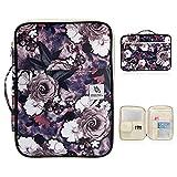 Laptop Tasche Aktentasche, große Kapazität Aktenkoffer, Studenten Federmäppchen Tasche Tasche Tasche erhalten Handtaschen, Make-up Tasche Kosmetiktasche, grau Rose