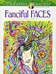 Fanciful Faces Adult Coloring Book
