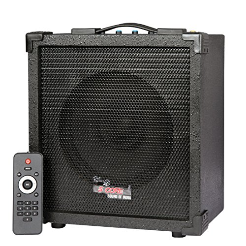 5 core Portable Mini Guitar 20W Amplifier with Speaker, Bluetooth (Black, 5C-CUBE-20)