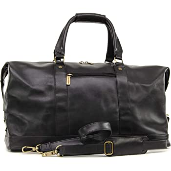 Ashwood Travel Weekend Bag - Holdall - Black Leather  Amazon.co.uk ... 692d7989ddf8d
