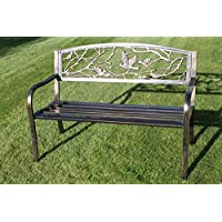 Metal Banco de jardín con hierro