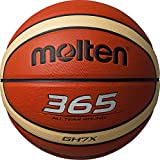 Molten BGHX Parallel Pebble Indoor/Outdoor - Pelota de baloncesto, color naranja, talla 7