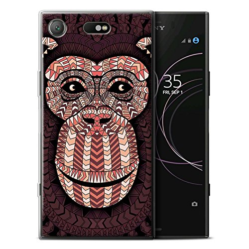 Stuff4® Phone Fall/Cover/Haut/sxpxz1 C-gc/Aztec Tier Design Collection, Monkey-Red (Monkey Designs Red)