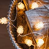 20leds Battery Powered Operated LED String light PineCone Shape Fairy Lights Lamp Bulbs For Home Holiday Or Wedding Decor Garden Party Christmas Bedroom Decoration