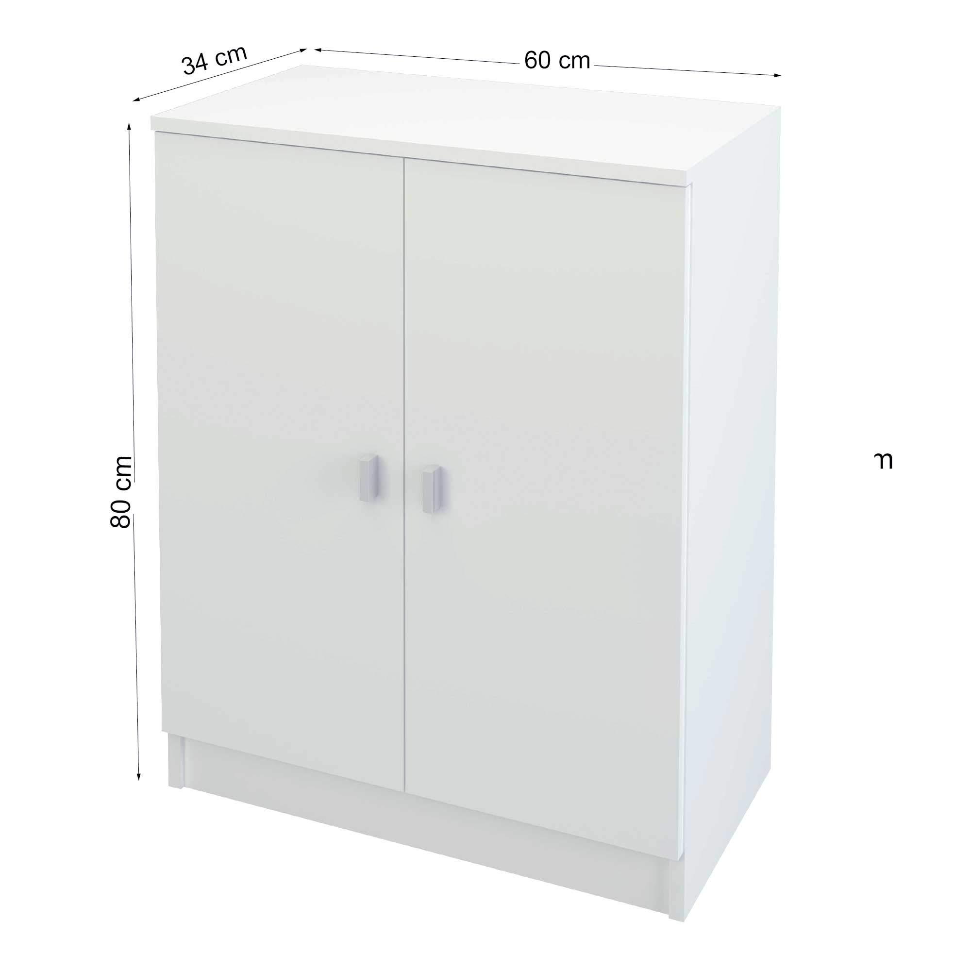 Samblo Senchi Armario bajo de cocina 2 puertas color blanco » Toppym ... 2ac0f7ffeff0