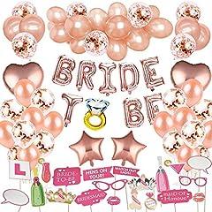 Idea Regalo - MMTX Addio al Nubilato, Bride To Be Palloncini Banner Party in Oro Rosa, Palloncini coriandoli per Addio al Nubilato Festa con Addio al Nubilato Photo Booth Props