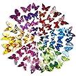Mudder 3D Papillons Papiers D�coration pour Fammille ou Chambre, 6 Couleurs, 72 Pi�ces
