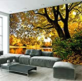 Personnalisable Taille Photo Papier Peint 3D Stéréoscopique Forêt Paysage Peinture Murale Salon Canapé Tv Fond Soie Tissu Mural 400X280Cm