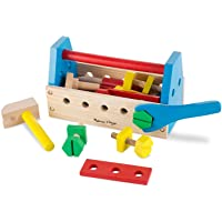 Melissa & Doug Take-Along Tool Kit Wooden Toy (Pretend Play, Sturdy Wooden Construction, Promotes Multiple Development…