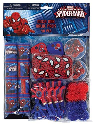 Amscan 393374-55 Partygeschenke-Set Spiderman, 48-teilg