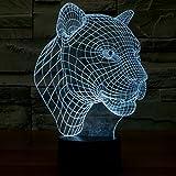 LED Luz de noche lámpara de mesa Luces escritorio lámpara ánimo luces–Niños de escritorio habitaciones Art Sculpture–Se ilumina en diferentes colores y Producido Efectos de luz y 3d Exclusivo de visualización–Amazing Ilusión Óptica