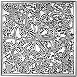 Scrapbooking dies de decoupe 2pcs Fleur de papillon et Cadre carré Cutting Dies pochoirs Matrices de découpe Bricolage Album papier carte Craft … (Fleur Papillon)