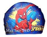 Niños gorro de natación de la historieta Gorro Tejido 2-10 años Spiderman marina