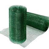 Grillage pour jardin casa pura® clôture vert | tailles au choix | maille carré de 12,7mm | résistant aux intempéries | bricolage, 50cmx5m
