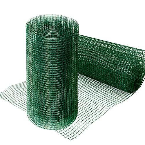 Grillage pour jardin casa pura® clôture vert | tailles au choix | maille carré de 12,7mm | résistant aux intempéries | bricolage, 50cmx10m