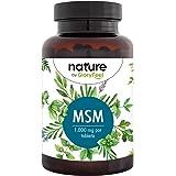 MSM 365 Tabletas Veganas + Vitamina C natural - 2000mg polvo de azufre con Vitamina C de Acerola para una mejor absurbation -