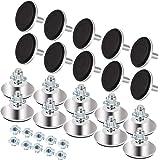XAVSWRDE 20 stuks verstelbare meubelpoten metalen meubelpoten M8 x 40 mm nivelleringspoten met inslagmoeren nivelleringsvoete