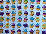 Cupcakes & Sterne mehrfarbig Druck auf weiß | 100%