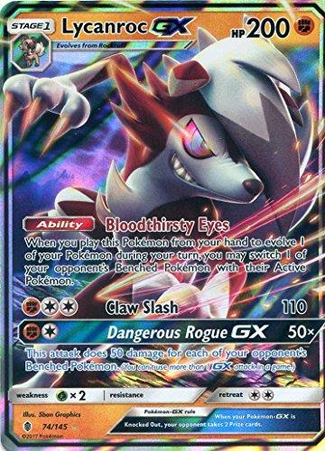 Preisvergleich Produktbild Pokemon Sun & Moon Guardians Rising lycanroc GX 74/145Holo Karte