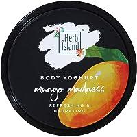Herb Island Mango Madness Body Yogurt for Dry Skin - Makes Skin Soft and Supple for Men & Women 150 gm