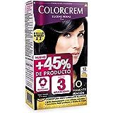 Colorcrem Color & Brillo Tinte permanente mujer - Tono 12 Azul Noche, con tratamiento nutri-protector al aceite de Argán + 45