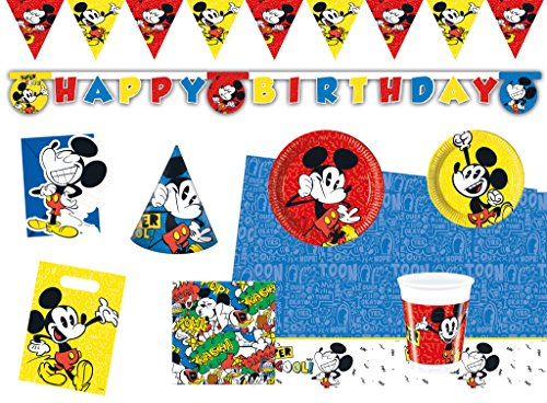 (Procos 10118239 Kinderpartyset Disney Mickey Mouse Super Cool)