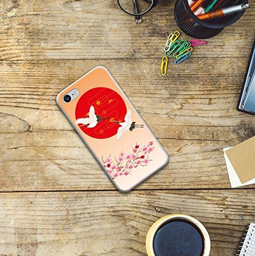 WoowCase Hülle Case für [ iPhone 7 ] Handy Cover Schutzhülle Gehirn, Musik und Wissenschaft Housse Gel iPhone 7 Transparent D0090