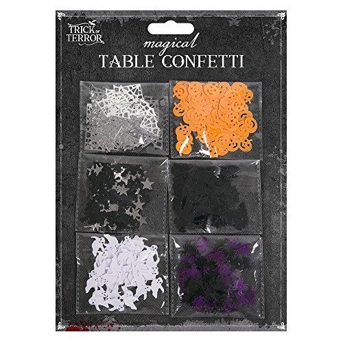 Coriandoli da tavolo–ragni, zucche di halloween, bats, ghosts, ragnatele, stelle e streghe