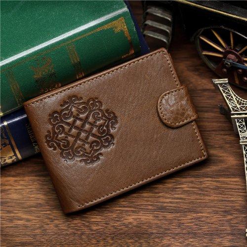 Vintage Kuh Leder Brieftaschen für Herren Portemonnaie case Card Holder Coach 8018C