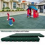 "Granulatboden – Fallschutzmatten ""Play Protect Pro"" – 25 oder 43 Millimeter Stärke (43 mm, Grün)"